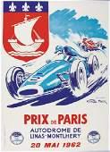 GEO HAM racing poster Grand Prix of Paris in Montlhery