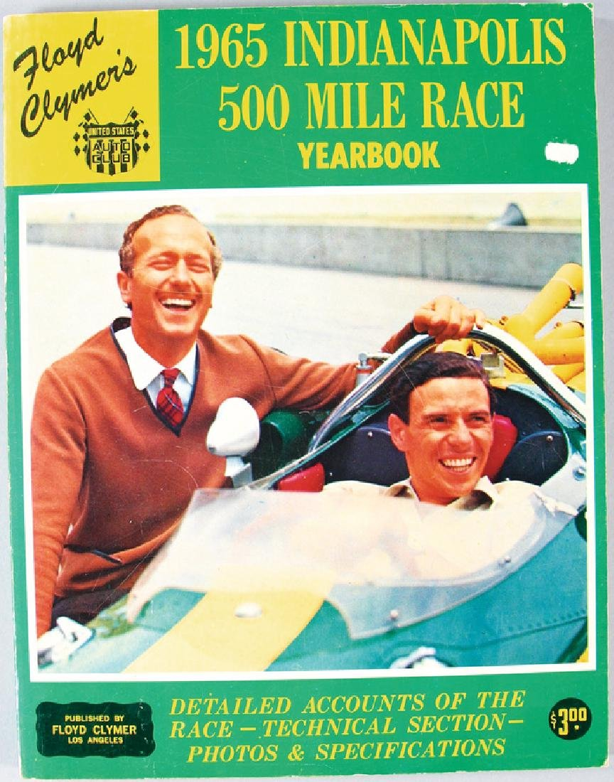 500 MILES OF INDIANAPOLIS 1965, programme booklet in