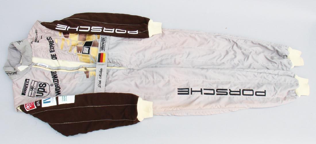 PORSCHE/UPS race suit from the Porsche Juniorteam UPS