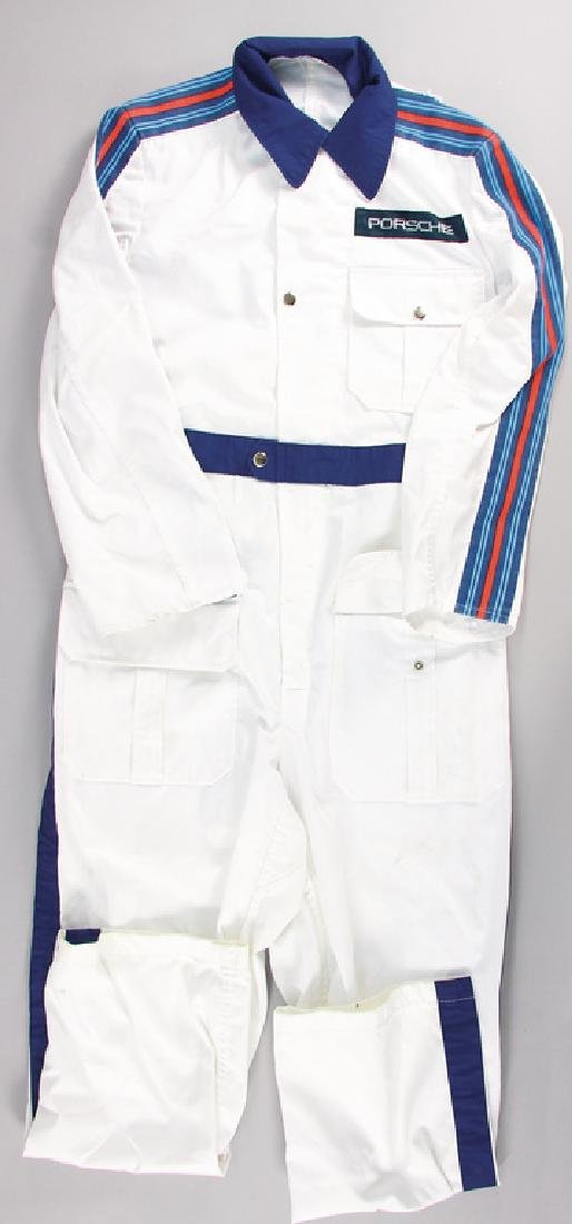 PORSCHE/MARTINI mechanic jumpsuit in the colors white
