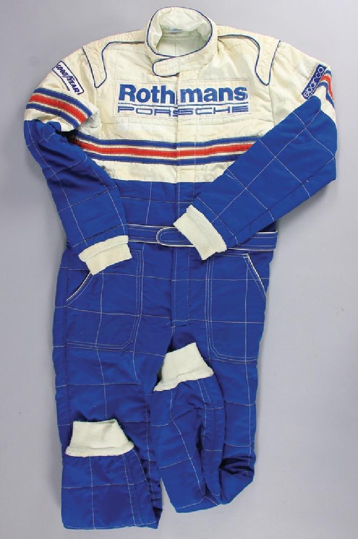 PORSCHE/ROTHMANS Sparco race suit '80s, in the colors