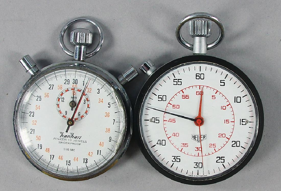 mixed lot with 2 pieces, consists of stopwatches, among