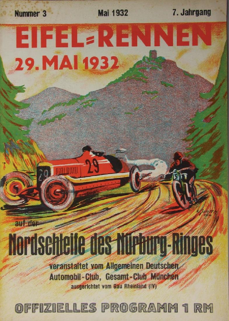 EIFEL-RACE 1932, official programme, very good