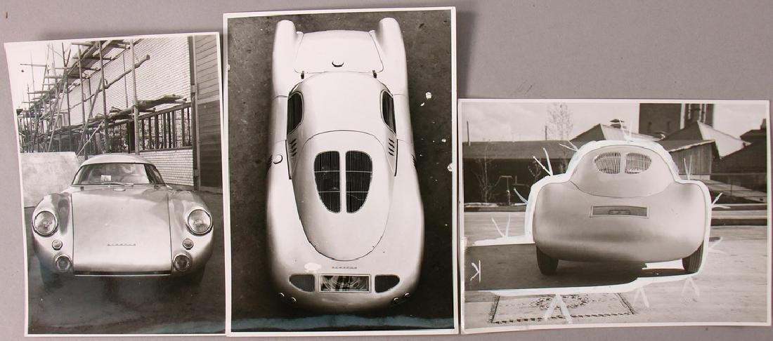 PORSCHE Germany 1953 mixed lot with 3 original B/W