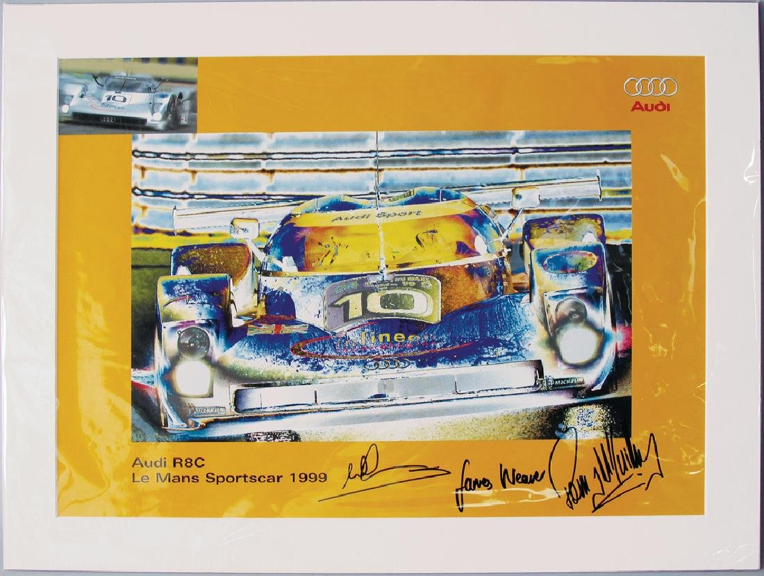 AUDI art printing, on it Audi R8C Le Mans Sports Car