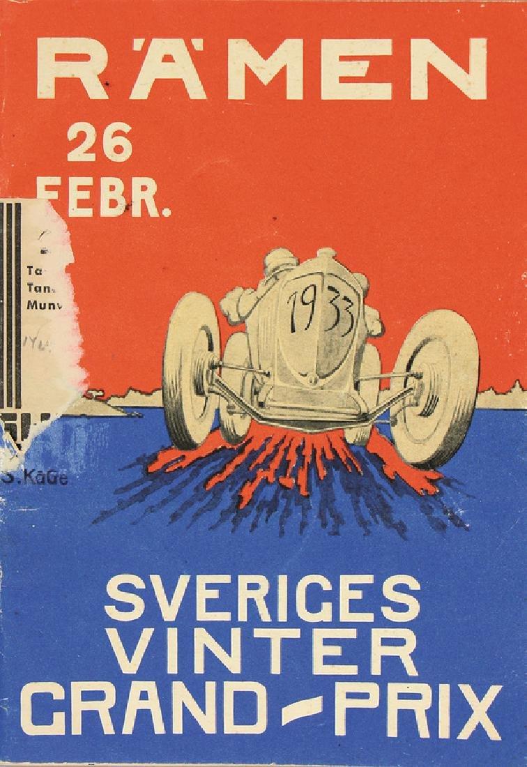 Grand Prix Sweden (Sveriges Vinter), 1933, inside with