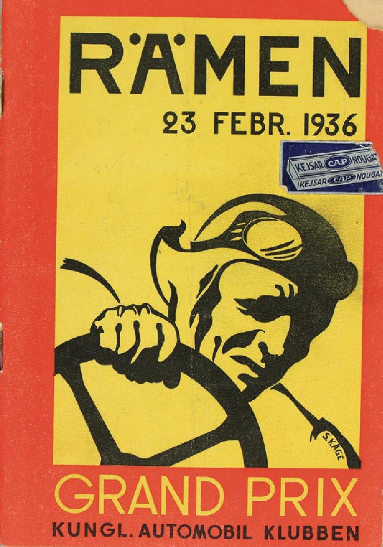 racing programme Grand Prix Sweden (Rämen) 1936, right