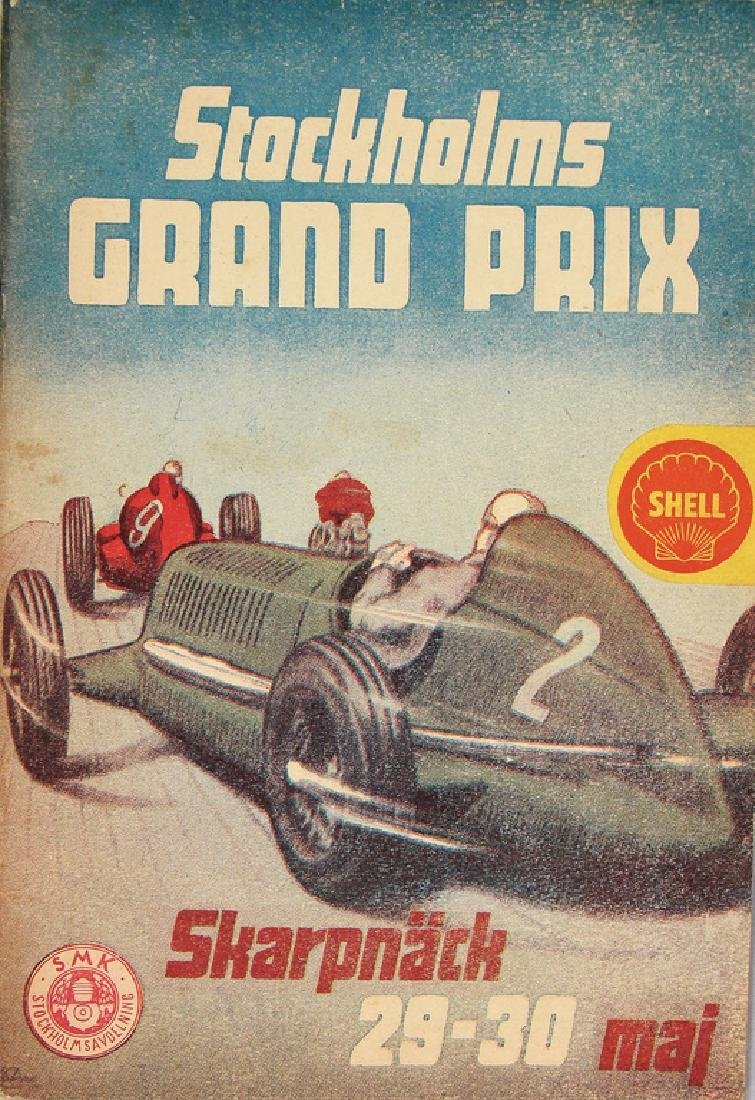racing programme Grand Prix Stockholm 1948, in the
