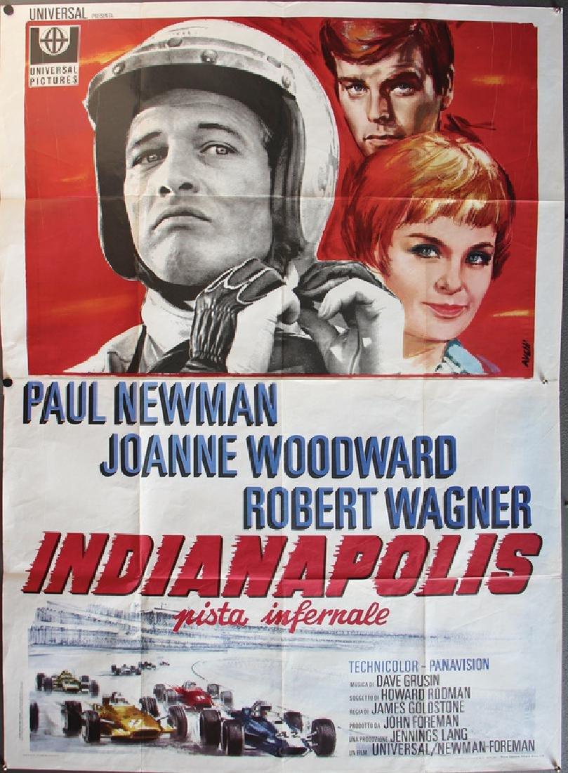"INDIANAPOLIS film poster ""Indianapolis Pista Infernale"""