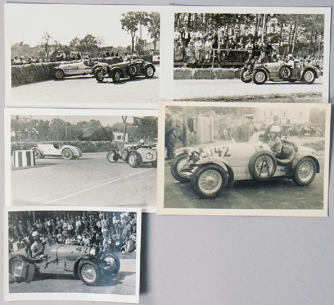 FRITZ GOLLIN/BUGATTI mixed lot, 5 original B/W photos,