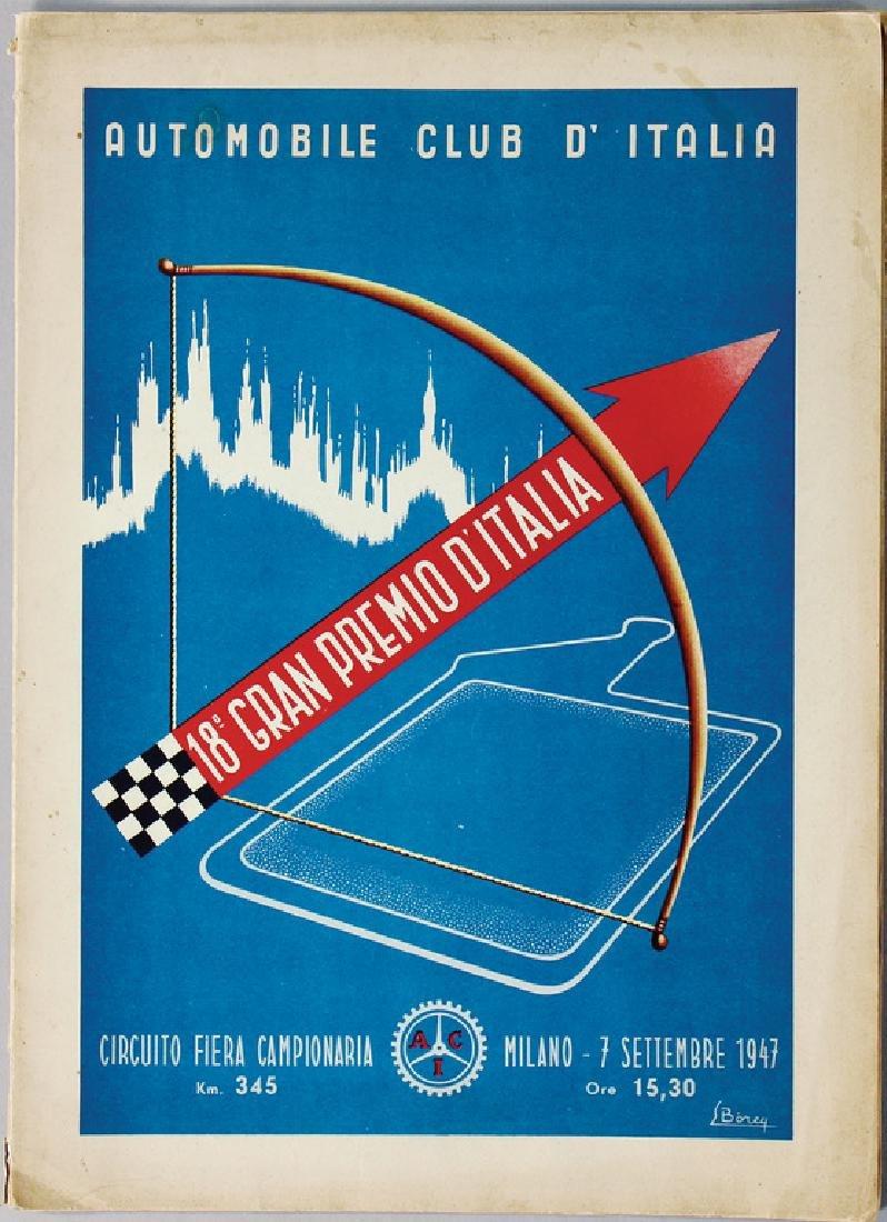 GRAN PREMIO D?ITALIA programme booklet 1947, good