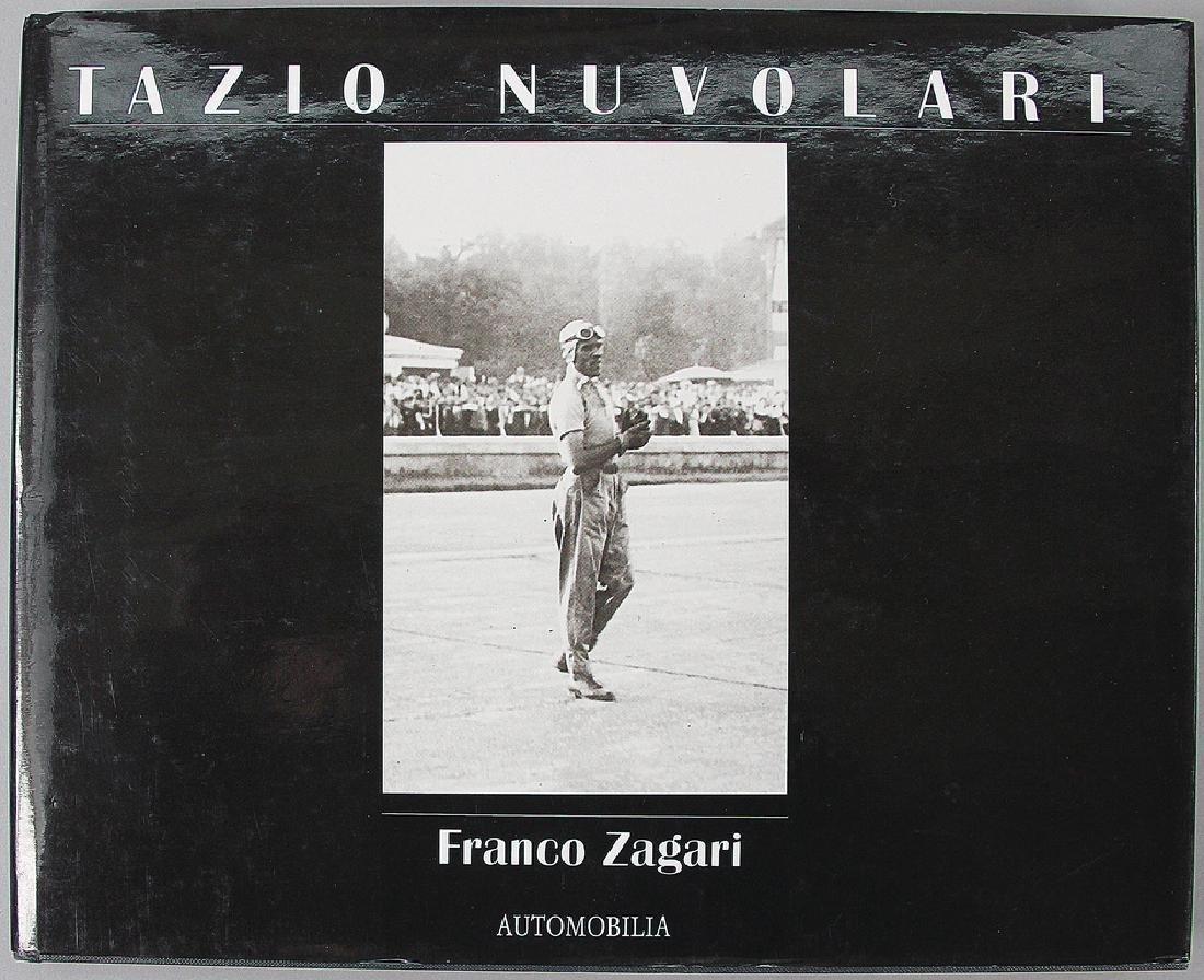 """automobilia book """"Tazio Nuvolari"""" by Franco Zagari,"""