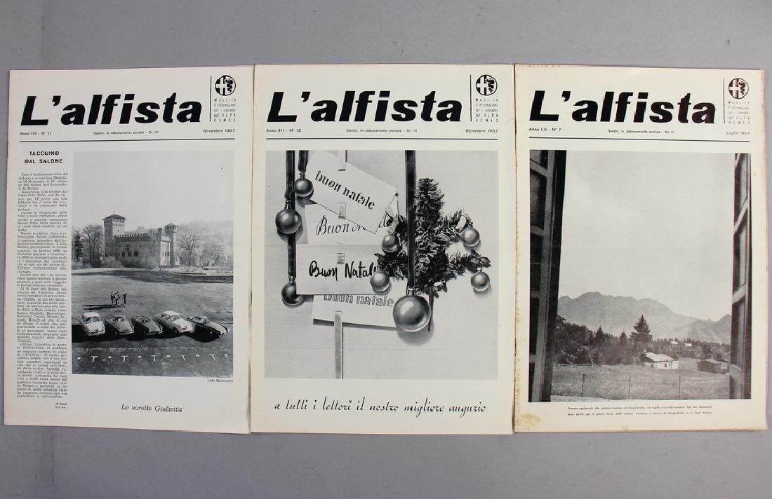 "ALFA ROMEO house journal ""L?Alfista"" July, November and"