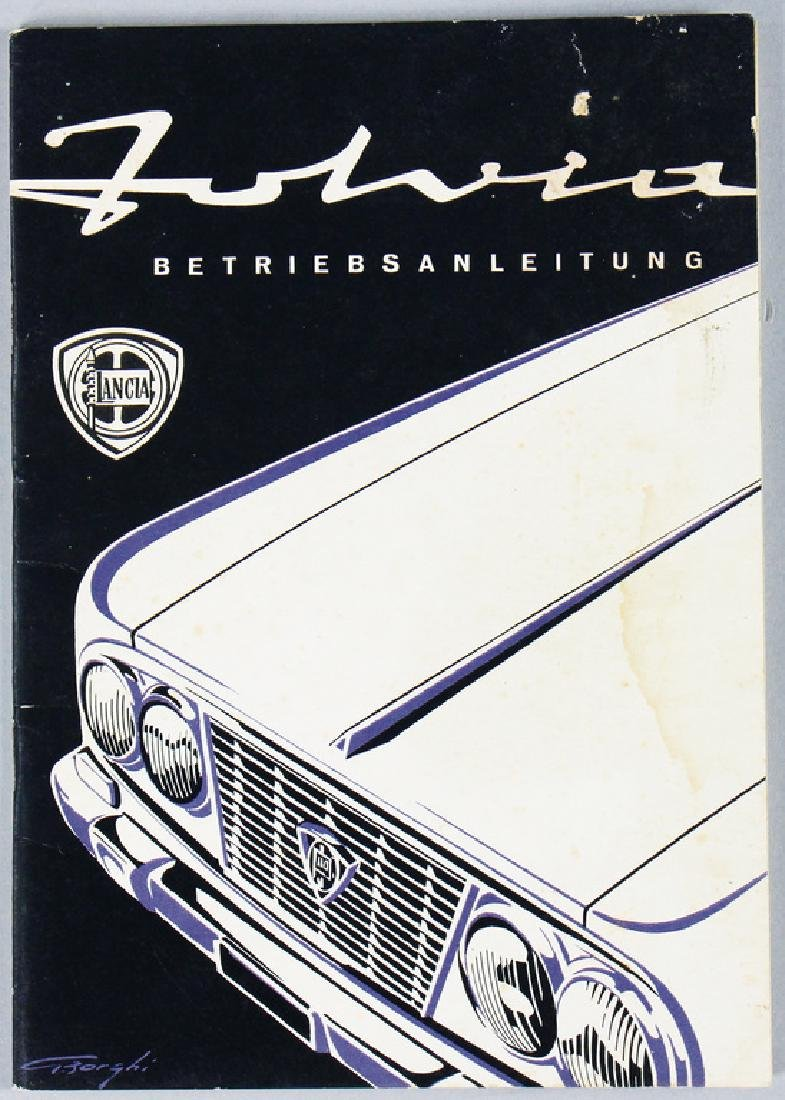 LANCIA operating instruction Fulvia 51 pages, German