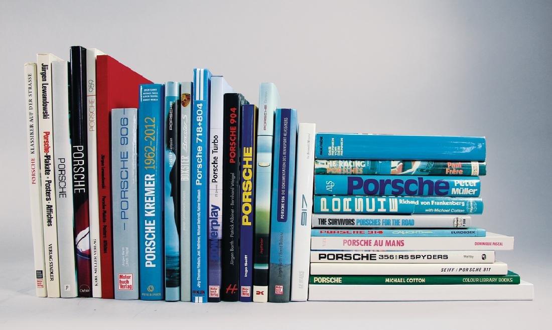 PORSCHE mixed lot of books, 28 pieces, among it