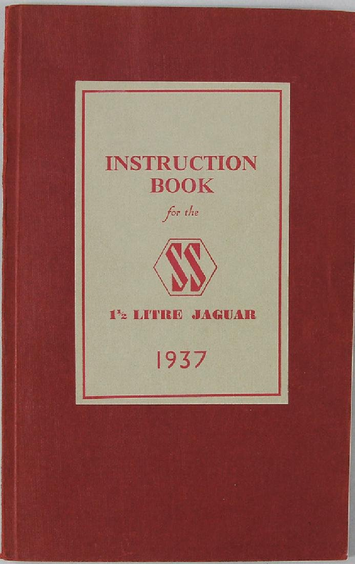 JAGUAR operating instruction for the FS1 ½ litre Jaguar