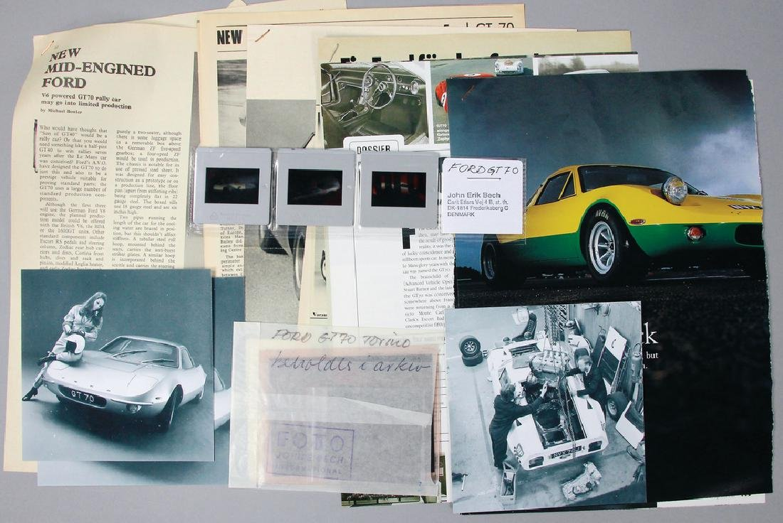 FORD mixed lot Ford GT 70, among them 2 color slides 6