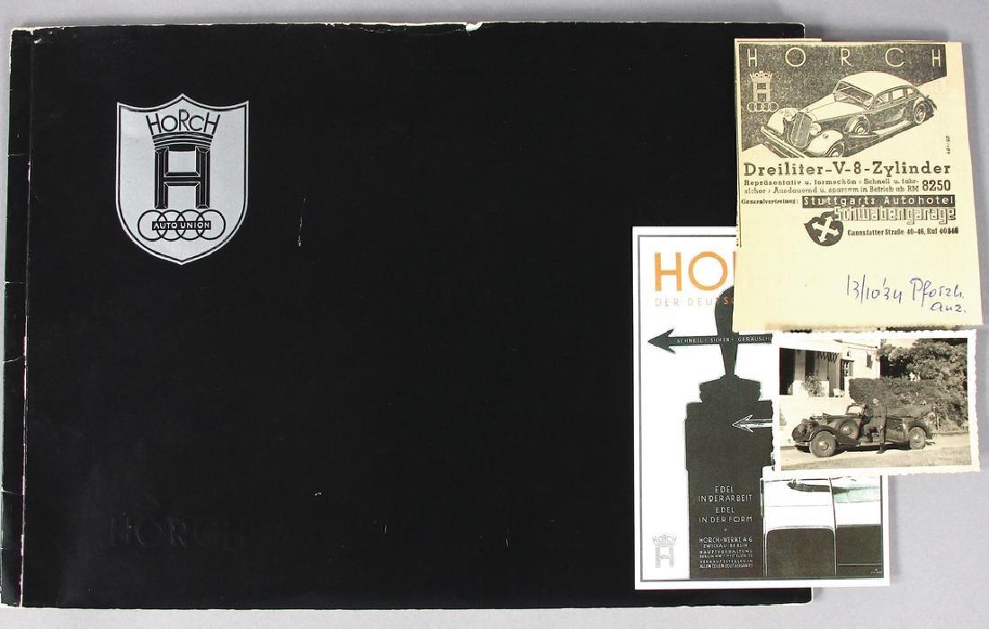HORCH 1937, sales catalog Horch V eight-cylinder 3,5