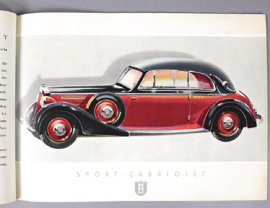 HORCH 1937, sales catalog Horch V eight-cylinder 3,5 - 2
