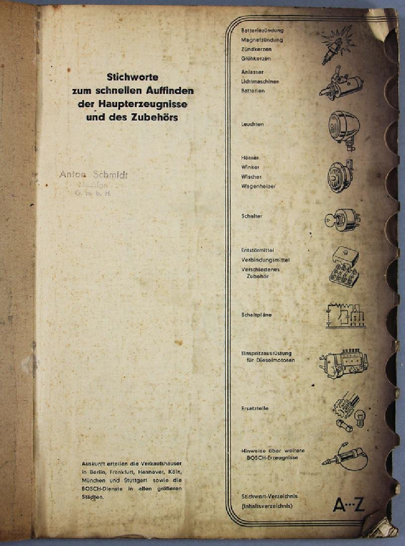BOSCH main catalog from 1949, very extensive, with 228 - 2