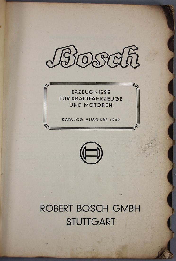 BOSCH main catalog from 1949, very extensive, with 228 - 3