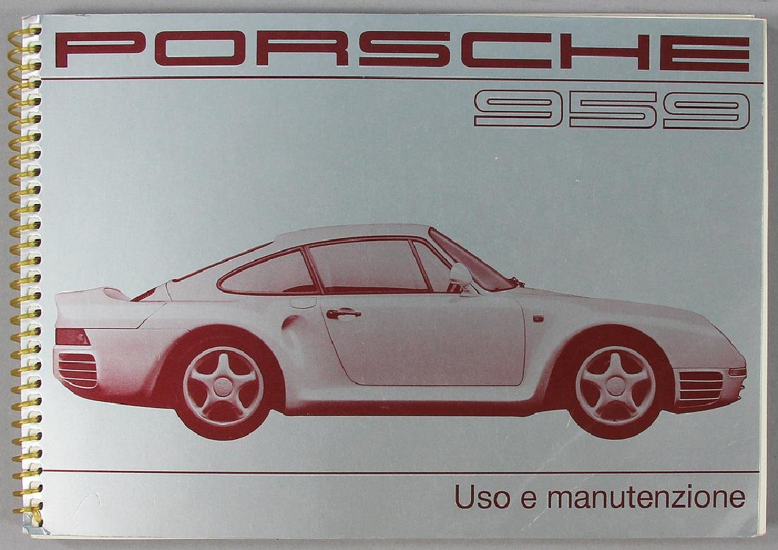 PORSCHE original operating instruction for Porsche 959,