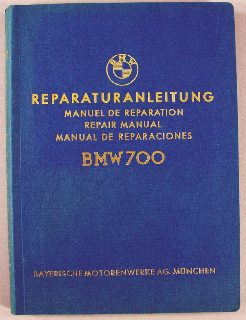 BMW Germany 1962, repair instructions BMW 700, in four