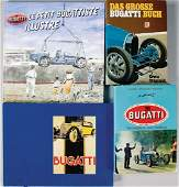 BUGATTI mixed lot with 4 pieces, books, consists of