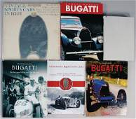BUGATTI mixed lot with 6 pieces, among it book