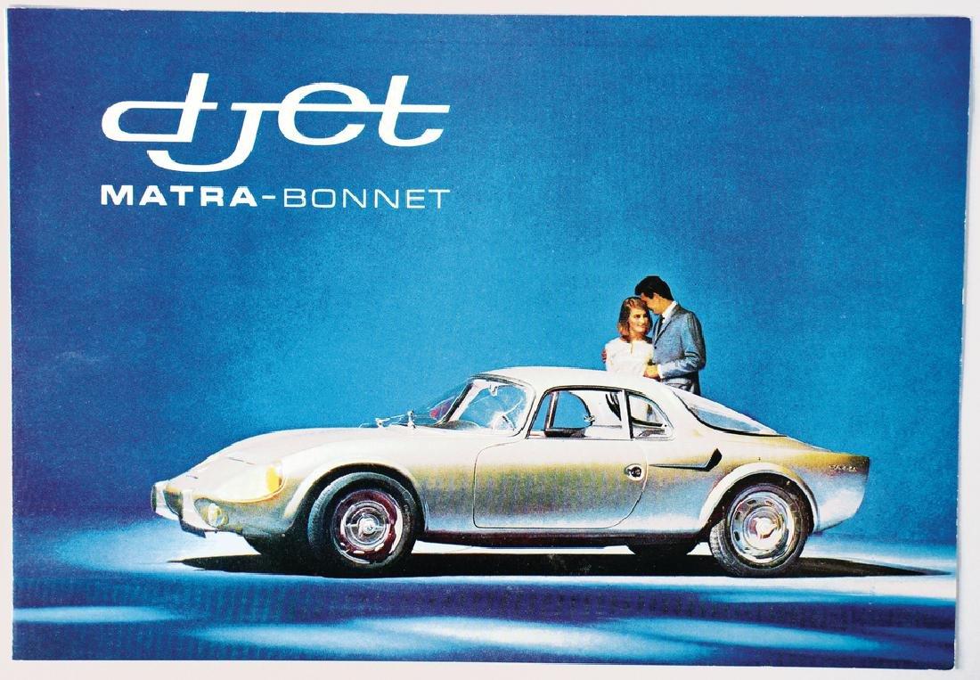 MATRA fold-out brochure Matra-Bonnet Djet, 4 pages