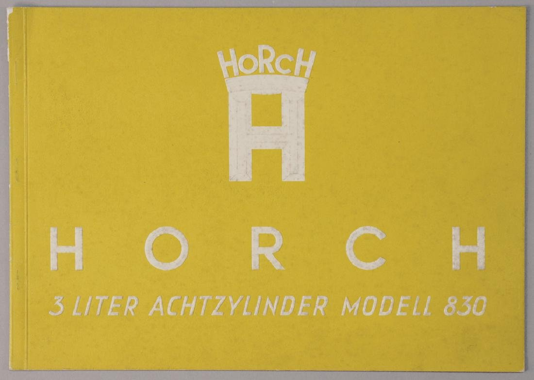HORCH sales catalog Horch 3 litre eight-cylinder model