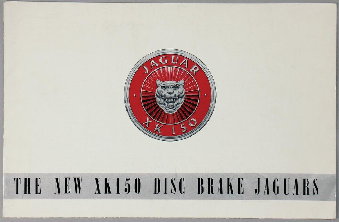"JAGUAR fold-out brochure ""The New XK150, Disc Brake"