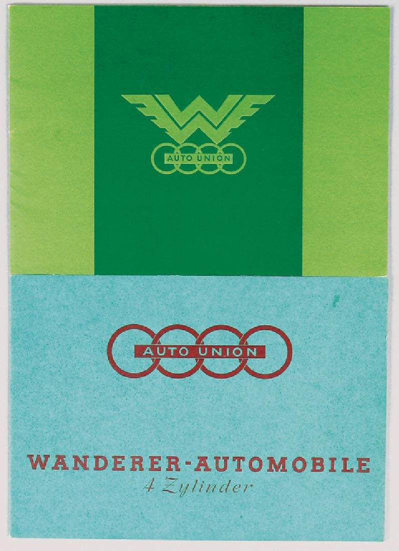AUTO UNION 2 sales catalogs, No. 1: Wanderer W24 from