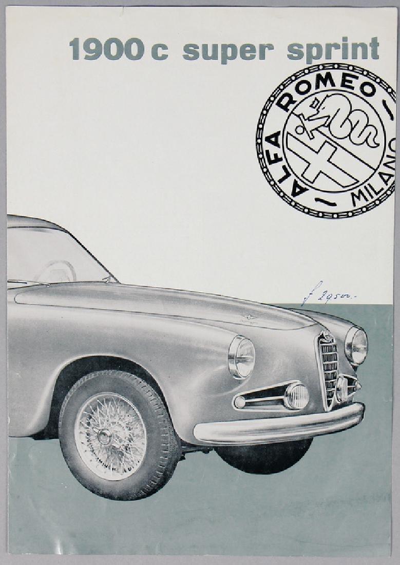 ALFA ROMEO sales brochure/fold-out brochure Alfa Romeo