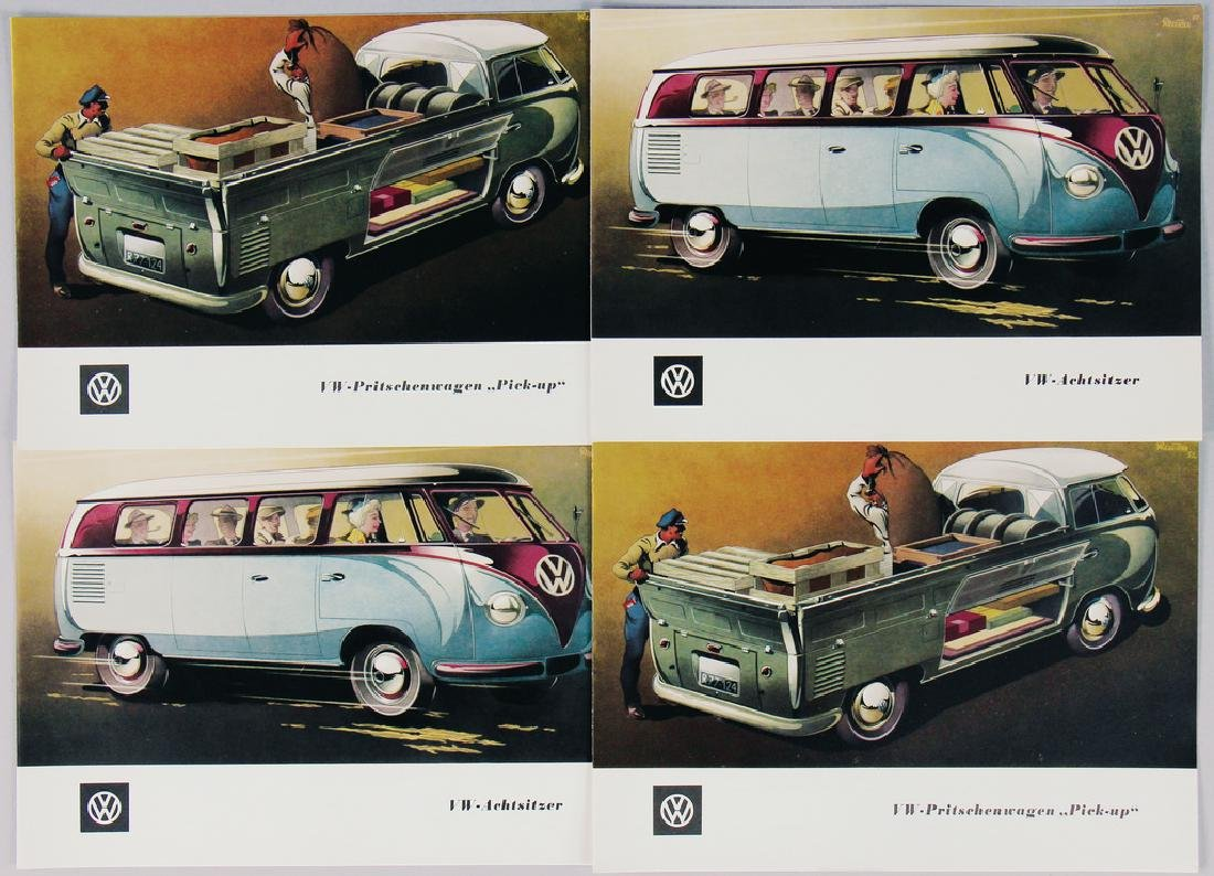 VOLKSWAGEN mixed lot with 4 folders from a sales folder