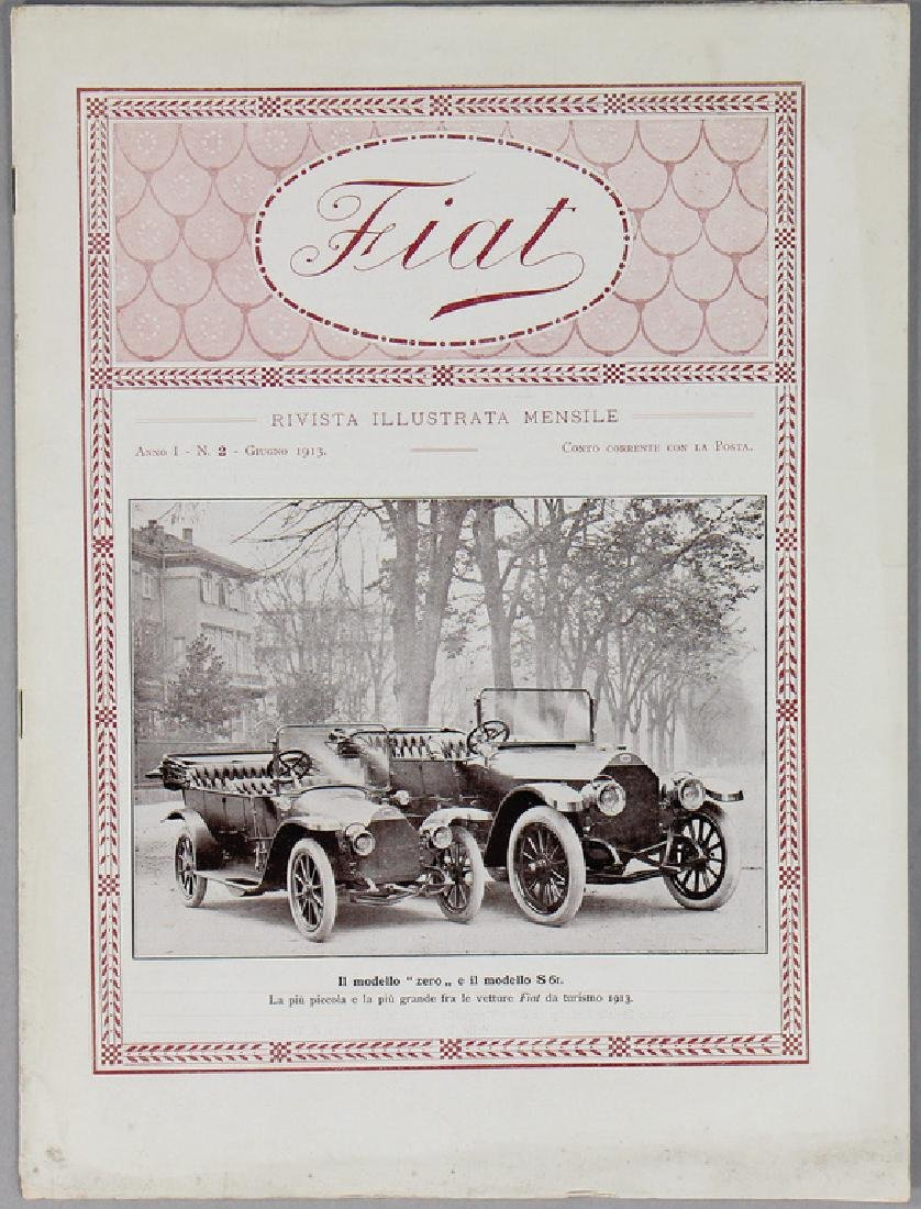 FIAT house journal year 1913, Anno 1, No. 2, June 1913,