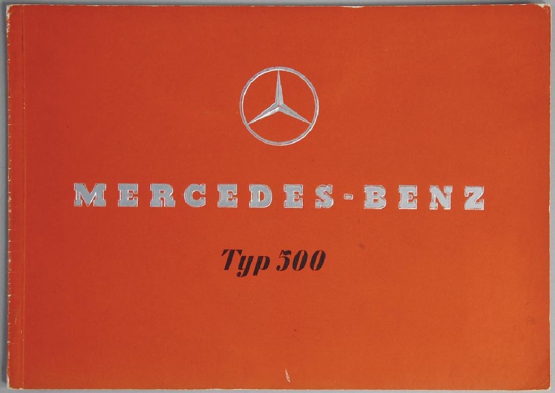 MERCEDES-BENZ sales catalog '30s, type 500, in German,