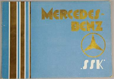 MERCEDES-BENZ 1928, fold-out brochure Mercedes-Benz