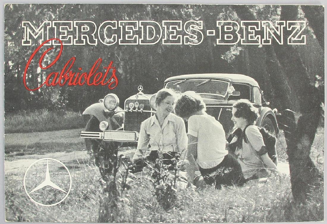 MERCEDES-BENZ Germany 1936, sales catalog Mercedes-Benz
