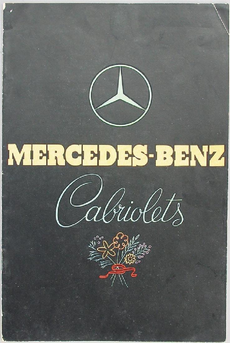 MERCEDES-BENZ sales catalog Mercedes-Benz convertibles,