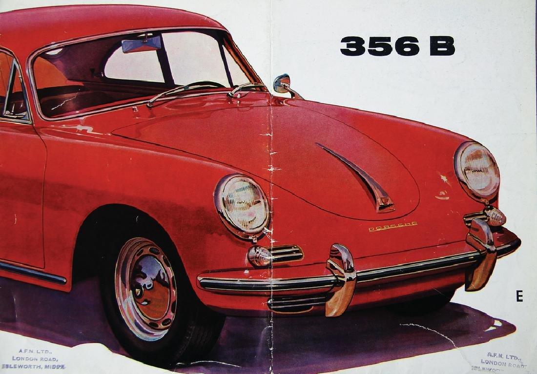 PORSCHE sales brochure/fold-out brochure, Porsche 356B