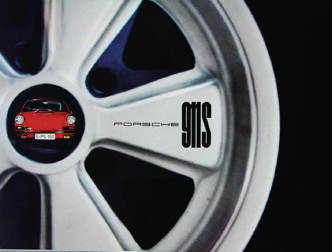 PORSCHE sales brochure/fold-out brochure, Porsche