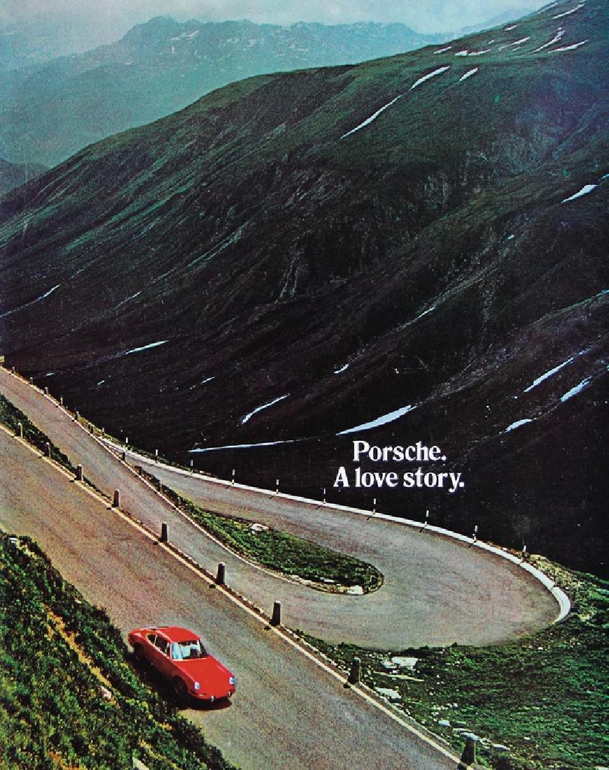 """PORSCHE brochure """"Porsche a Lovestory"""", among it the"""