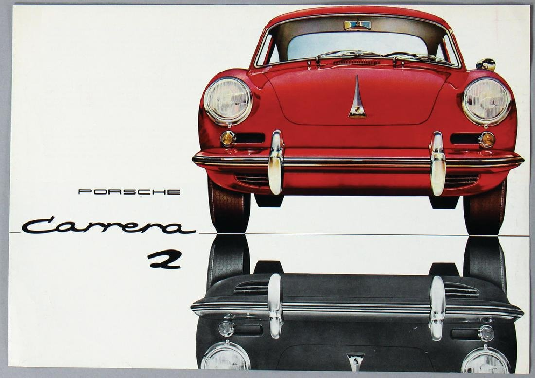 PORSCHE Germany 1962, fold-out brochure Porsche Carrera