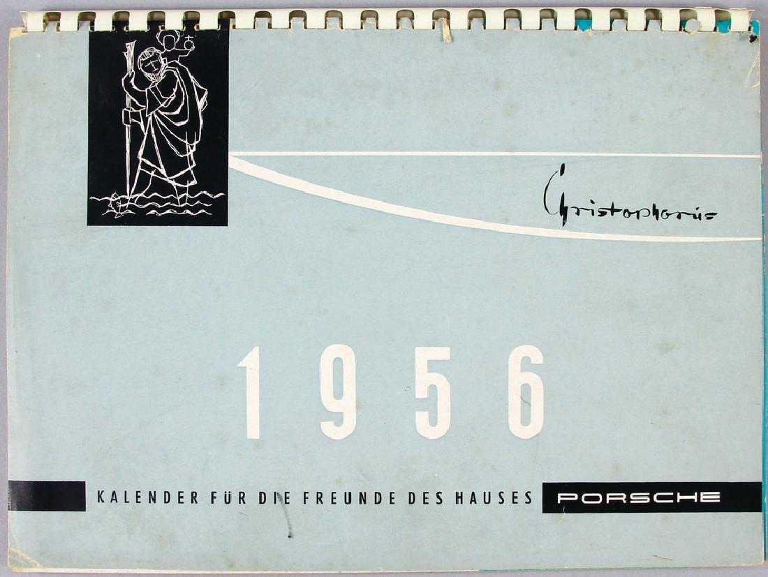 PORSCHE Germany 1956 Porsche calendar Christophorus,