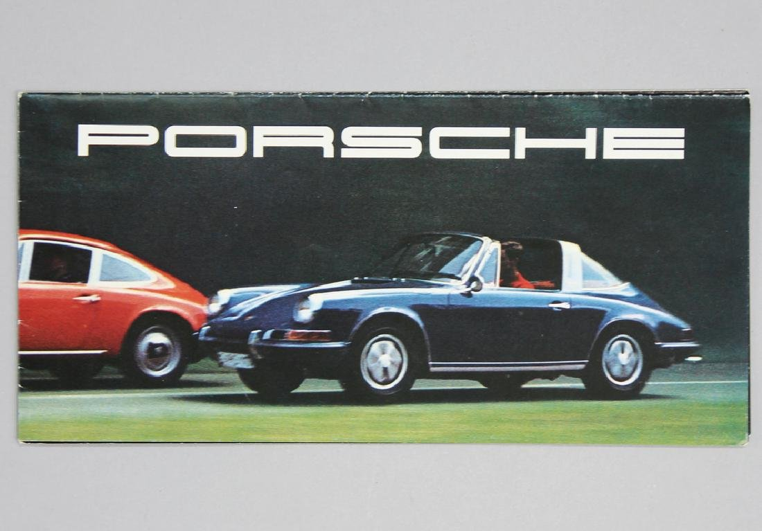 PORSCHE fold-out brochure, Porsche 912,911T,911E,911S -