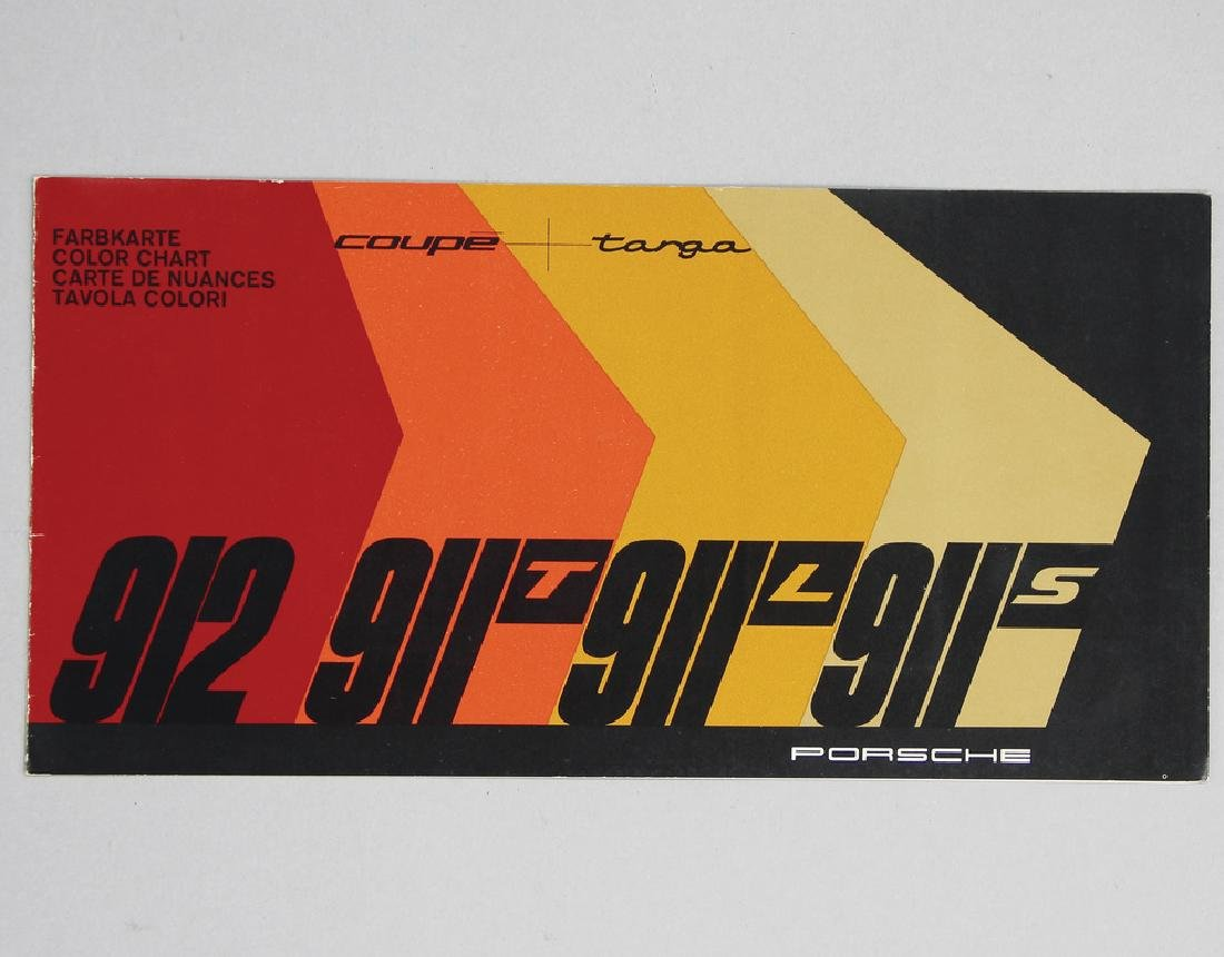 PORSCHE fold-out brochure/color catalog, Porsche