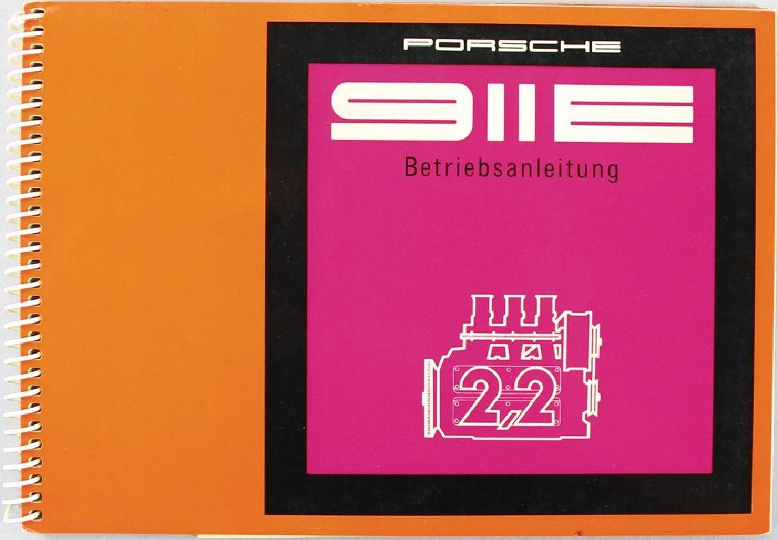 PORSCHE operating instruction for 1971 Porsche 911 E,