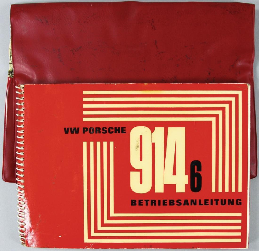 PORSCHE operating instruction for model Porsche 914/6,