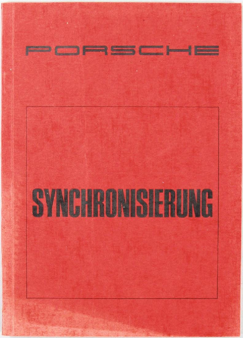 PORSCHE booklet synchronization from 1966, print number